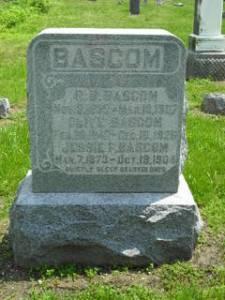 Robert Bruce, Olive and Jessie Bascom gravestone