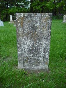 Annis Potter gravestone