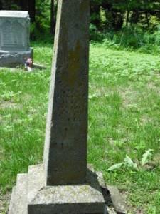 Isaac C Bovard gravestone