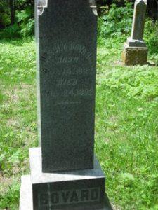 Ursula Bovard gravestone