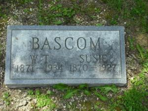 Willard and Susan Bascom gravestone