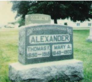 Thomas Alexander and Mary Ann Courtney gravestone