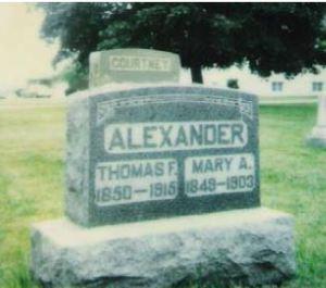 Thomas Alexander and Mary Ann Courtney gravestone