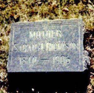 Sarah Jane Ayars gravestone