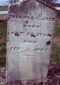 Rosanna Hampton gravestone