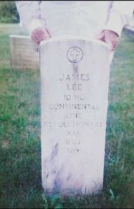 James Lee gravestone