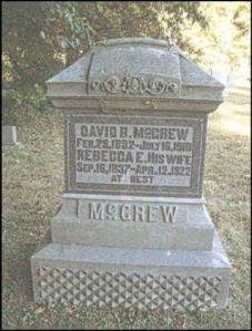 David Bacon McGrew gravestone