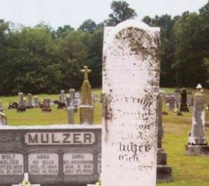 Anna Mathilde Mulzer gravestone
