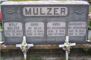 Mulzer gravestone