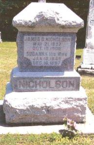 James Nicholson gravestone