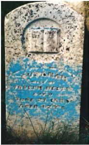 Susanna Pearson gravestone