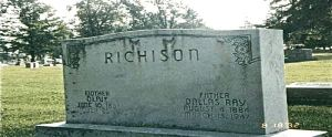 Dallas Richison and Olive Alexander gravestone
