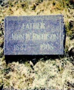 John Webster Richison gravestone