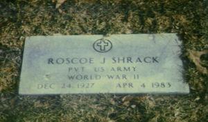Roscoe Shrack gravestone