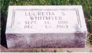 Lucretia Skinner gravestone