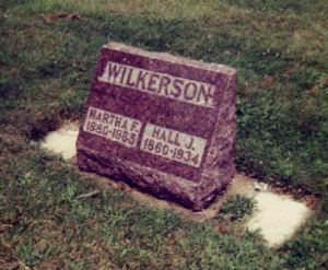Hall Wilkerson and Martha Childress gravestone